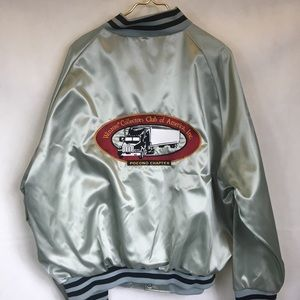 Vintage Silver Winross Collectors Satin Bomber